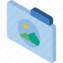 file, folder, images, iso, isometric icon