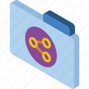 file, folder, iso, isometric, share icon