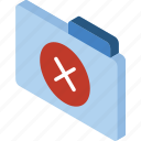 file, folder, iso, isometric, removed icon