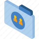 file, folder, iso, isometric, users icon