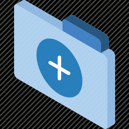 add, file, folder, iso, isometric icon