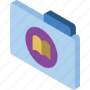 bookmarks, file, folder, iso, isometric