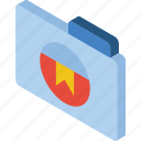 bookmark, file, folder, iso, isometric icon