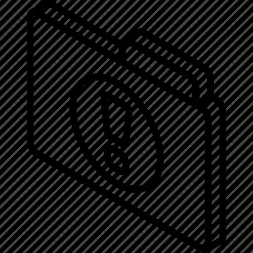file, folder, important, iso, isometric icon