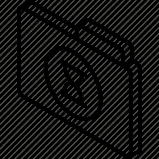 file, folder, iso, isometric, timed icon