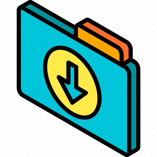 Download, file, folder, iso, isometric icon - Download on Iconfinder