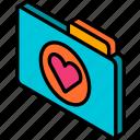 favourites, file, folder, iso, isometric