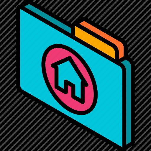 file, folder, home, iso, isometric icon