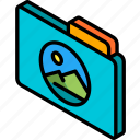 file, folder, images, iso, isometric