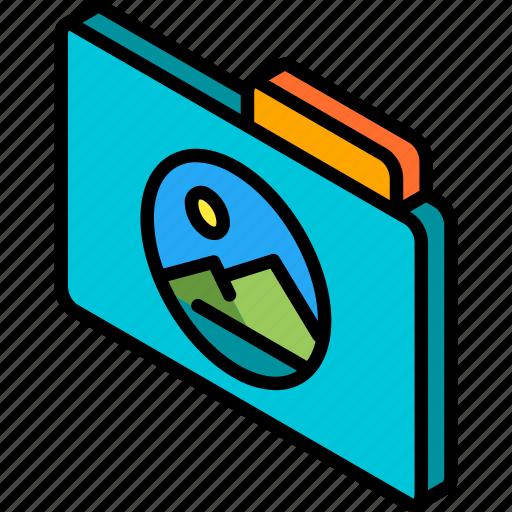 file, folder, images, iso, isometric icon
