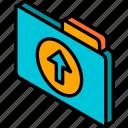 file, folder, iso, isometric, upload