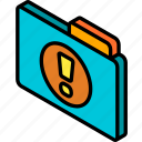 file, folder, important, iso, isometric icon