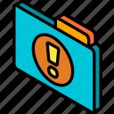 file, folder, important, iso, isometric