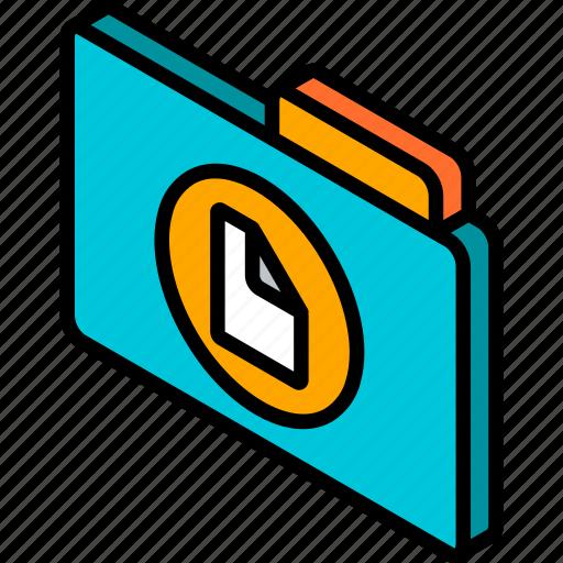 document, file, folder, iso, isometric icon