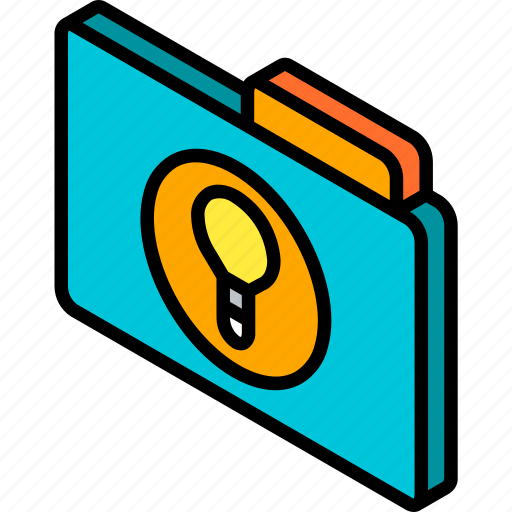 file, folder, ideas, iso, isometric icon