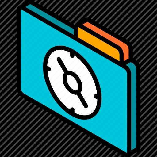 file, folder, iso, isometric, navigation icon