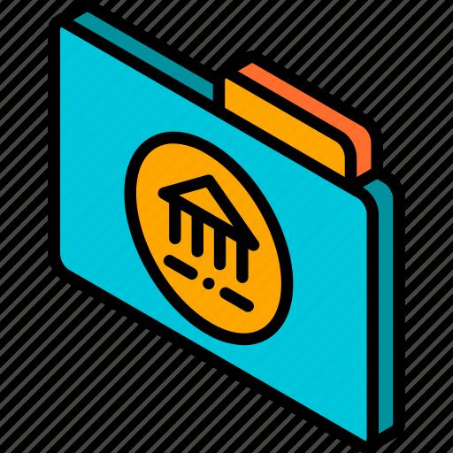 file, folder, iso, isometric, library icon