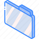 file, folder, iso, isometric icon