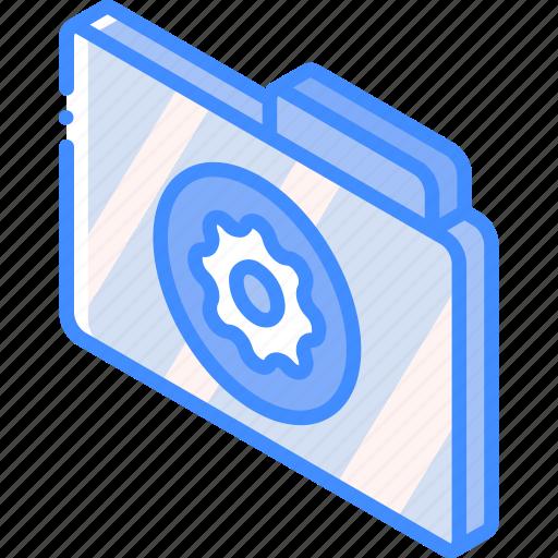 file, folder, iso, isometric, settings icon