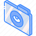 file, folder, iso, isometric, show