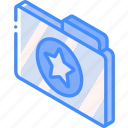 favourite, file, folder, iso, isometric icon