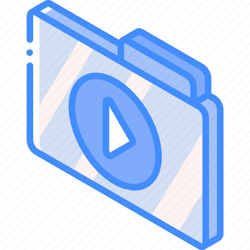 file, folder, iso, isometric, media icon
