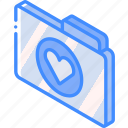 favourites, file, folder, iso, isometric icon