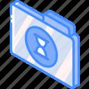 file, folder, iso, isometric, timed