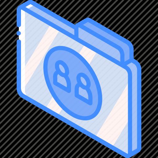 file, folder, iso, isometric, users icon