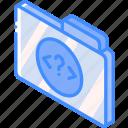 file, folder, iso, isometric, php icon