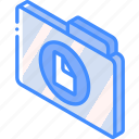 document, file, folder, iso, isometric icon