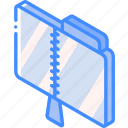 compressed, file, folder, iso, isometric icon