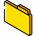 file, iso, isometric icon