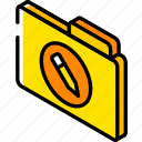 edit, file, folder, iso, isometric icon