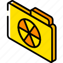 burn, file, folder, iso, isometric icon