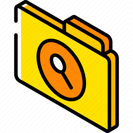 file, folder, iso, isometric, search icon