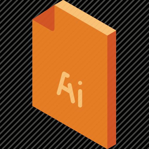 file, folder, illustrator, iso, isometric icon