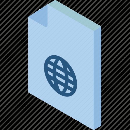 file, folder, internet, iso, isometric icon