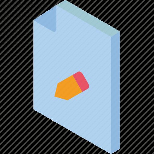 edit, file, folder, iso, isometric icon