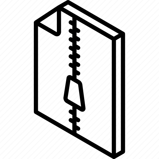 compressed, file, folder, iso, isometric icon