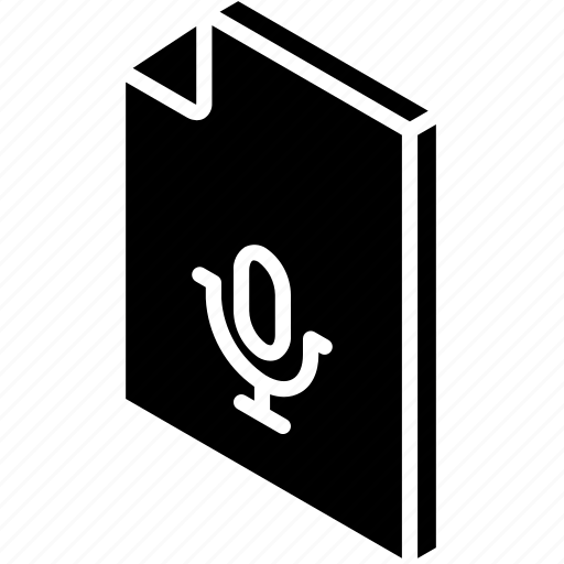 file, folder, iso, isometric, recordings icon