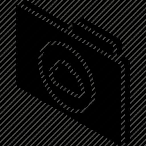cloud, file, folder, iso, isometric, the icon