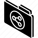 file, folder, iso, isometric, share icon