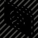 file, folder, hide, iso, isometric icon