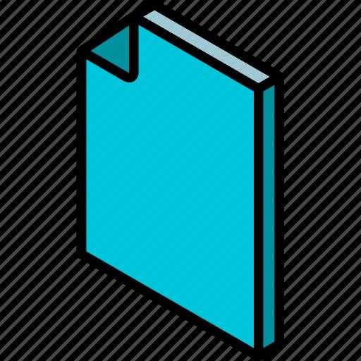 document, folder, iso, isometric icon
