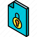 file, folder, iso, isometric, locked