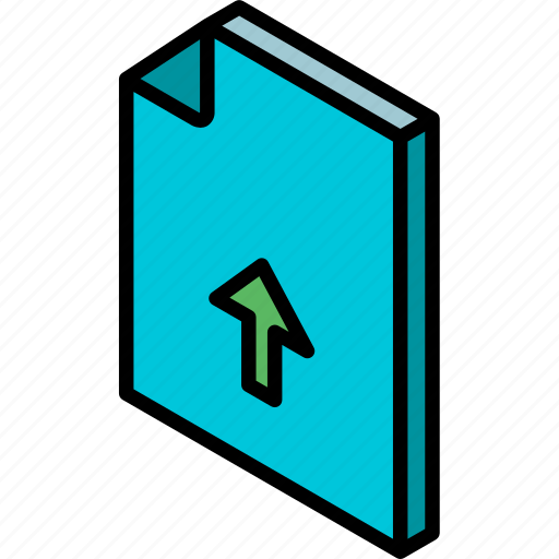 file, folder, iso, isometric, upload icon
