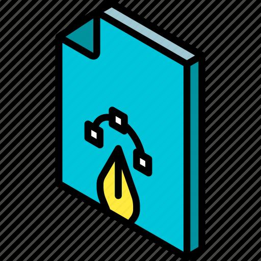file, folder, iso, isometric icon