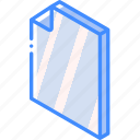 document, folder, iso, isometric icon