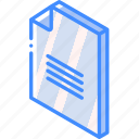 file, folder, iso, isometric, text icon